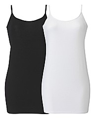 Pack of 2 Jersey Camisoles
