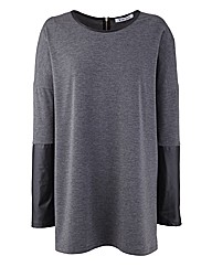 Ava By Mark Heyes PU Sleeve Top