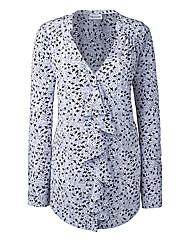 Ava By Mark Heyes Ruffle Print Blouse