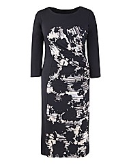 Ava By Mark Heyes Floral Illusion Dress
