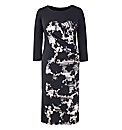 Ava Shadow Floral Illusion Dress