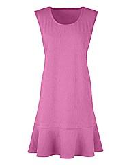 Edit Textured Peplum Tunic Dress