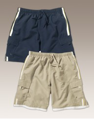 Premier Man Pack of Two Cargo Swimshorts