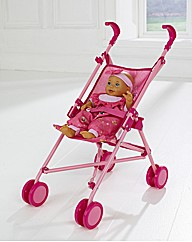 Dolls Uno Stroller with Doll