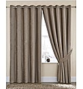 Tamora Chenille Lined Eyelet Curtains
