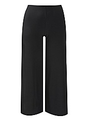 Wide Leg Jersey Trousers Length 34in