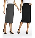 Pack of 2 Skirts Length 31in