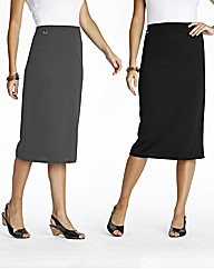 Pack of 2 Skirts Length 27in
