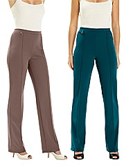 2 Pack of Trousers Length 27in