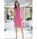 Notch Neck Dress Length 41in