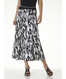 Print Jersey Skirt 27in with FREE Belt