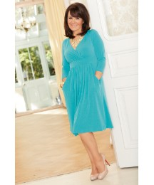 Arlene Phillips Mock Wrap Front Dress
