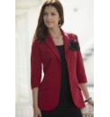 Tailored Jacket with Corsage