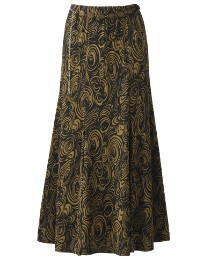 Print Jersey Skirt with Belt Length 30in