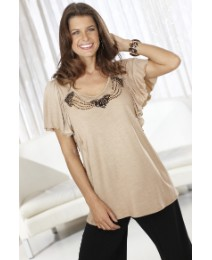 Arlene Phillips Embellished Frill Top