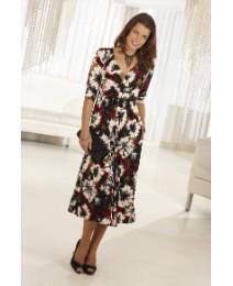 Arlene Phillips Print Dress Length 41in