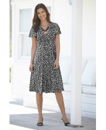 Ditsy Spot Dress and Necklace 45in
