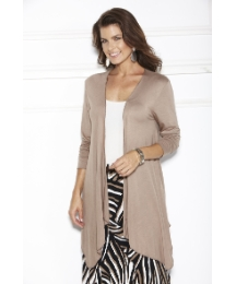 Long Sleeve Jersey Waterfall Cardigan