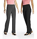 Pack of Two Bootcut Trousers Length 28in