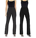 Pack of Two Bootcut Trousers Length 30in