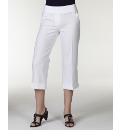 Comfort Waist Linen Crop Trouser 21in