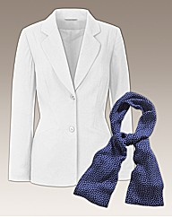 Linen Jacket With Scarf