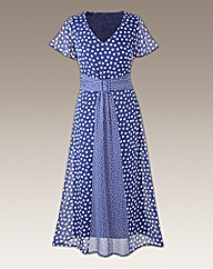 Petite Polka Dot Dress 41in