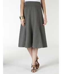 Comfort Waistband Linen Skirt 27in