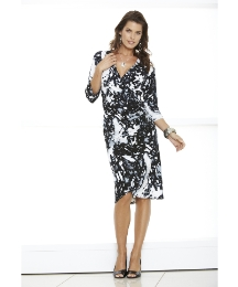 Mock Wrap Dress Print Length 41in