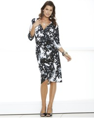 Mock Wrap Dress Print Length 41in