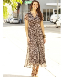 Ikat Print Dress Length 52in