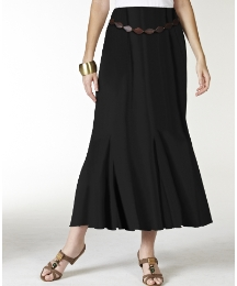 Plain Jersey Skirt with Belt Length 27in