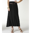 Plain Jersey Skirt with Belt Length 30in