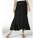 Plain Jersey Skirt with Belt Length 33in