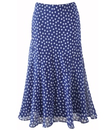 Petite Polka Dot Skirt Length 27in
