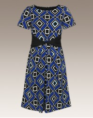 Arlene Phillips Petite Print Dress 39 in