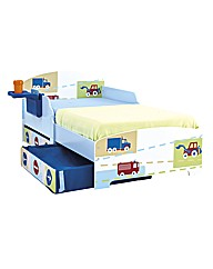 Boys Vehicle Toddler Bed With Storage
