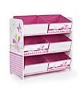 Girls Butterfly 6 Bin Storage
