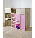 Colourway Desk and Storage Mid Sleeper