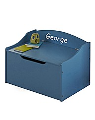 Personalised Blue Childrens Toy Box