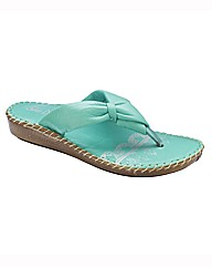 Sole Diva Soft Toe-Post Sandals EEE Fit