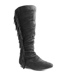Viva La Diva Suede High Leg Boot D Fit