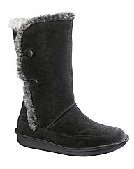 Sole Diva Mid Calf High Trim Boots E Fit