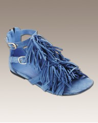 Viva La Diva Fringe Sandals E Fit