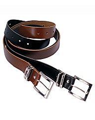 Union Blues Pack of Two Jeans Belts