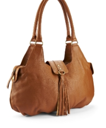 Leather Tassle Shoulder Bag