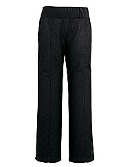 Slouch Linen Mix Wide Trousers Reg