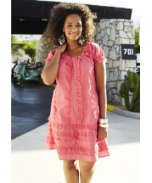 Angel Ribbons Tiered Tunic Dress