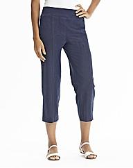 Crop Slouch Linen Mix Trousers