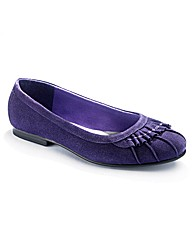Viva La Diva Pleat Ballet Pumps EEE Fit